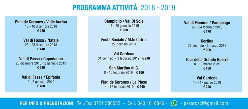 programma pesarosci 2018 2019