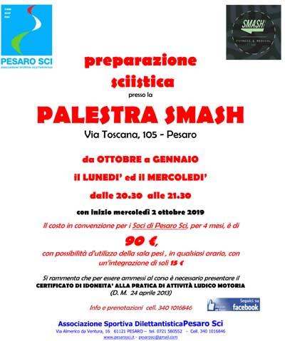 Palestra SMASH dal 2 ottobre p.v.